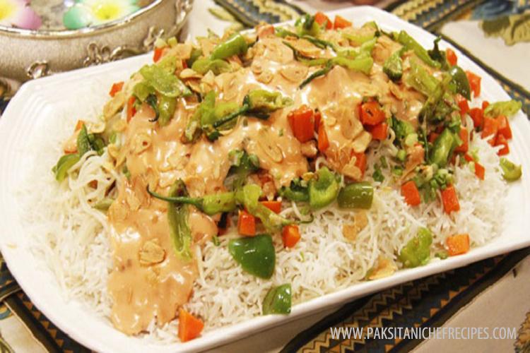 Singaporian Rice Recipe - How to make Singaporian Rice - Chicken ...