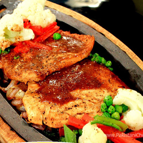 Sizzling Chicken Steak Recipe By Shireen Anwar Pakistani Chef Recipes