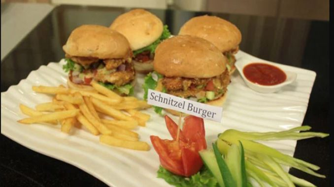Chicken Schnitzel Burger Recipe By Shireen Anwar Pakistani Chef Recipes